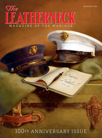 ARTIST NICOLE'S HAMILTON cover painting graced he 100th Anniversary edition of Leatherneck last month.
