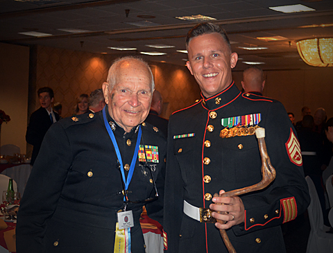 Mawk Arnold (left) with Jason Fudge at the 2016 Awards Banquet.